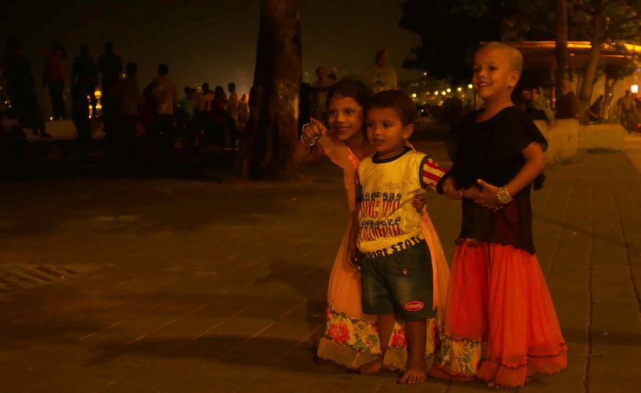 Child Tradition Girls Two People Cultures Childhood People Traditional Clothing Night Adult Outdoors Diwali Diwali Celebration Diwali Festival In India India Mumbai Mumbaikar