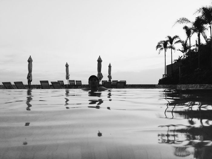 Sweet Place. Swimming Pool Swimming Time Pool Relax Moment Black & White Time Travel Seascape Summer 2017 Pattaya Thailand
