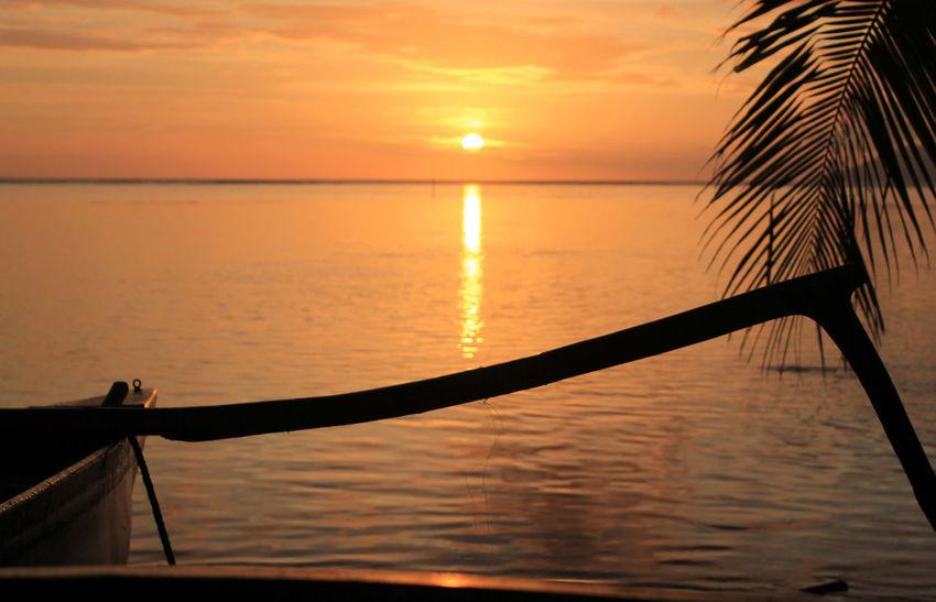 Sunset in Tahiti French Polynesia Sunset Tahiti
