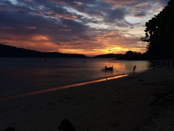 Thailand Trat Sun Sunlight Water Sea Swimming Low Tide Sunset Beach Wave Sand Summer Silhouette Romantic Sky Seascape Surf Horizon Over Water Coastal Feature Dramatic Sky Sand Dune