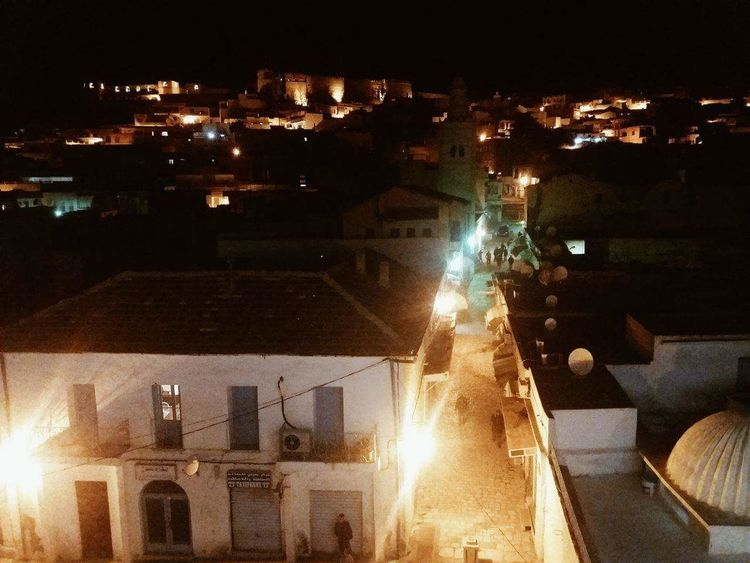 Night Sky City Old Town Of Kef Shooting Street Tunisia Tunisianyouth Architecture Town
