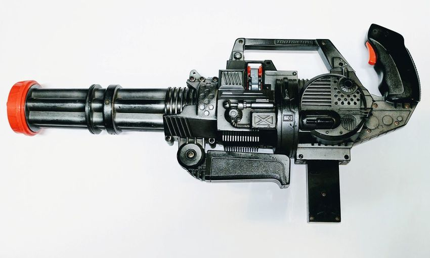 Close-up of machine against white background
