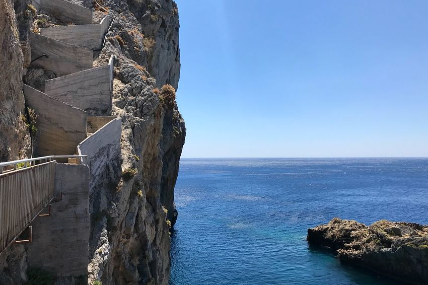 Kalypso Water Sea Sky Horizon Over Water Horizon Scenics - Nature The Great Outdoors - 2018 EyeEm Awards Beauty In Nature Tranquil Scene Blue Rock Idyllic Outdoors Tranquility
