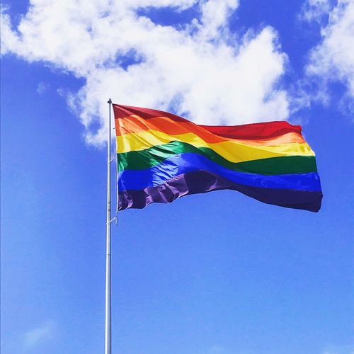 Flag Blue Day Low Angle View Multi Colored Sky Wind Pride No People Outdoors Rainbowflag Rainbow Castro