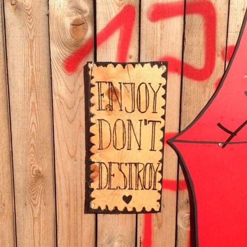 Enjoy don't destroy #everchanginberlin