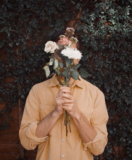 My Best Photo Flower One Person Flowering Plant Plant Holding Leaf Nature Obscured Face Beauty In Nature Vulnerability  Men Flower Arrangement Standing Adult Plant Part Waist Up Fragility Unrecognizable Person Shawnmendes  Album Fashion Artistic Artsy Spring