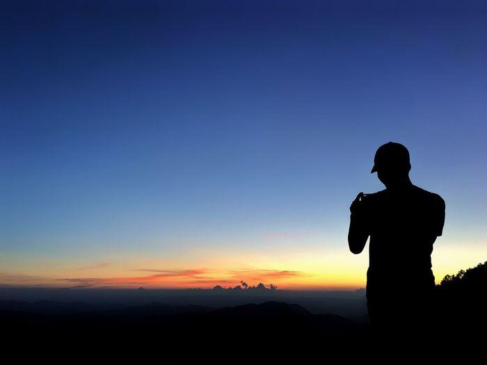 Silhouette Man