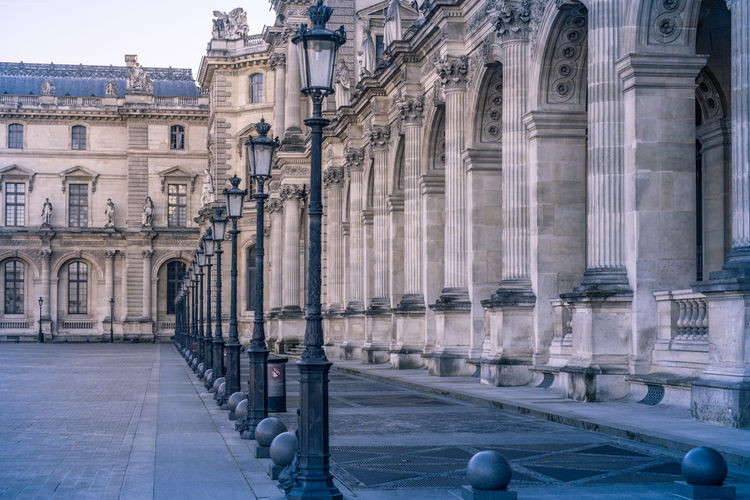 Architectures of Paris, France. Architecture Built Structure Building Exterior History The Past Building Architectural Column Travel Destinations City Place Of Worship Tourism Belief Religion Travel Day Spirituality In A Row Arch Outdoors Colonnade Louvre Lights