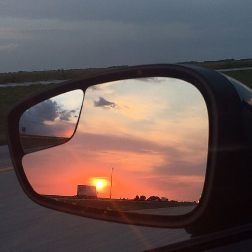 Rearviewmirror Sunset MeinAutomoment