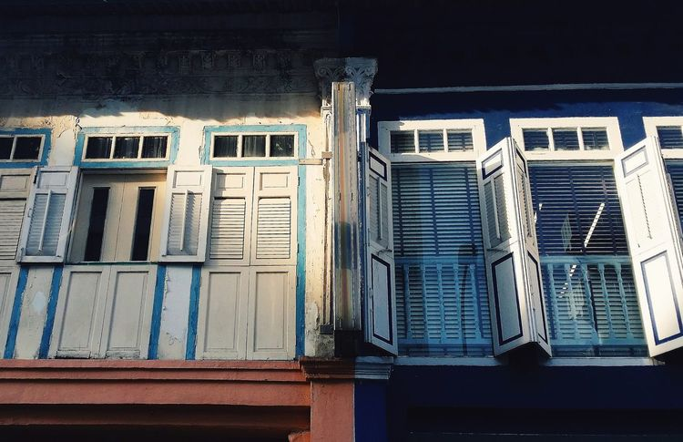 Wooden Shutters Shutters Windows Architecture Shophouses  Old Shophouses Upper Level Out And About Taking Photos Singapore
