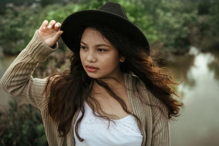 Beautiful Girl Long Hair Mood Outdoors Photography Portrait Young Women