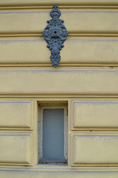 Backgrounds Architecture Old-fashioned Yellow Window Frame Close-up Geometry Pattern Geometric Lines Symetry Key