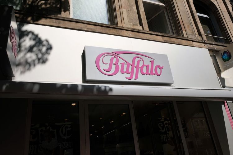 Mannheim, Germany - August 23, 2017: Buffalo shoe store. Buffalo Boots GmbH was founded in 1979 as a retail-business for cowboy boots Buffalo Fashion Shoe Shopping Shoe Shop Shoe Store Shoes Shop Shopping Footwear Low Angle View No People Outdoors Retail  Shoes Store Sign Store Sign