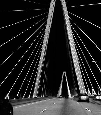 Bridge at night Bridge Bridge - Man Made Structure Bridge View Bridgesaroundtheworld Charleston Roadtrip Carefree Car Sharing Carpooling Drivebyphotography Car Travel Automobile Traveling Travel Destinations Traffic Arthur Ravenel Jr Bridge Construction Vehicle Photography Mode Of Transport