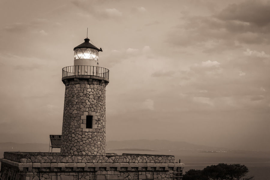 lighthouse.. Architecture Black & White Black And White Black And White Photography Blackandwhite Blackandwhite Photography Building Exterior Built Structure Cloud - Sky Day Greece Lighthouse No People Outdoors Salamina Sky Tower Water Tower - Storage Tank EyeEm Selects
