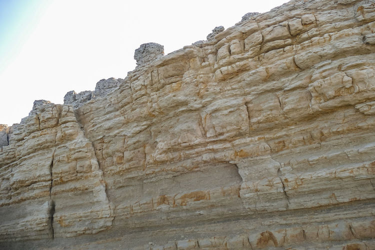 Sky Low Angle View No People Nature Day Rock Clear Sky Solid Architecture Rock Formation Built Structure Rock - Object History The Past Travel Destinations Rough Wall Textured  Travel Mountain Outdoors Stone Wall