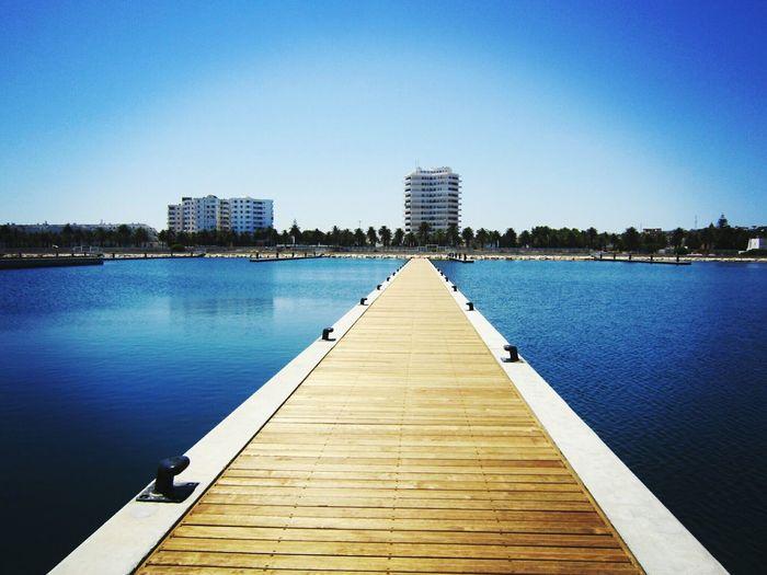 Sea Reflection Quiet Sea Travel Marina Cap 3000 Architecture Blue Sky No People Outdoors Bizerte Tunisia