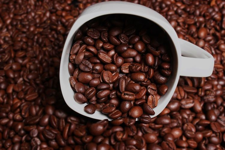 Roasted Coffee Bean Food And Drink Food Brown Dark Freshness Seed