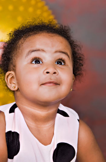 Childhood Close-up Curly Hair Cute Day Looking At Camera One Person People Portrait Real People