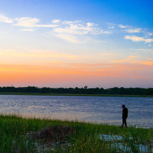 Strolling along... Sunset Silhouette Nature EyeEm Charleston
