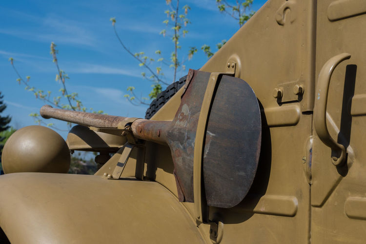 army car Spade Army Jeep Tank Military Rusty Retro Styled History Close-up Sky Army Soldier Soldier