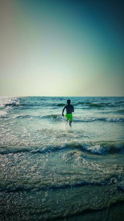 Live For The Story Sea Beach Water One Person Sky Vacations Outdoors Beauty In Nature Nature Something Beautiful Running Free Running Towords To Light Breathing Space
