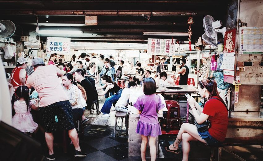 Taiwan Food Taiwan Ricoh GRlll Built Structure Men Lifestyles Transportation Adult Indoors  Day City Crowd Real People Architecture Group Of People High Angle View Large Group Of People Women Walking Leisure Activity Public Transportation Standing