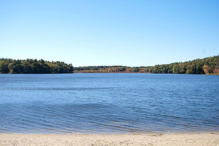 Beach Fall Lake Landscape Massachusetts New England  Water Waterfront