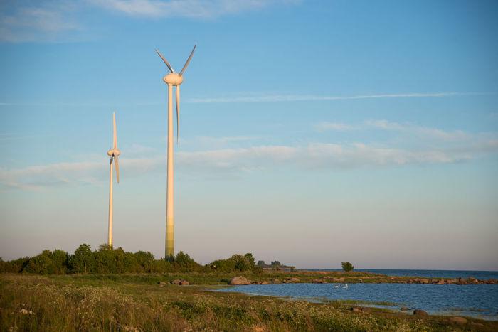 Alternative Energy Baltic Sea Baltic Sea Winter Blue Cloud Cloud - Sky Environmental Conservation Estonia Idyllic No People Non-urban Scene Remote Renewable Energy Scenics Sky Summer Sunset Tranquil Scene Travel Destinations Water Wind Power Wind Turbine Windmill