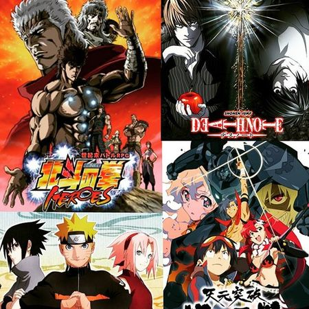 I was tagged by @otakuinferno to do my top 4 favorite animes and well here they are! 😄 1) Hokuto no ken 2)Naruto 3)Death note 4)Gurren laggan Weaboo Animelover Favoriteanimes Hokutonoken Naruto DeathNote GurrenLagann Nerd Geek 4favoriteanimes @every_thing_awsome
