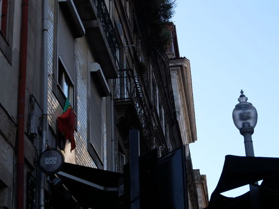 Euro 2016 Flag Green & Red Outdoors Porto Portugal Street Lamp