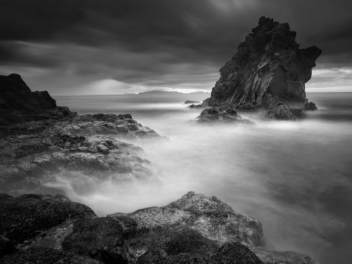 Beauty In Nature Cloud Cloud - Sky Horizon Over Water Madeira Nature Non-urban Scene Outdoors Portugal Rock Rock - Object Rock Formation Scenics Sea Seascape Seascape Photography Sky Tranquil Scene Tranquility Water