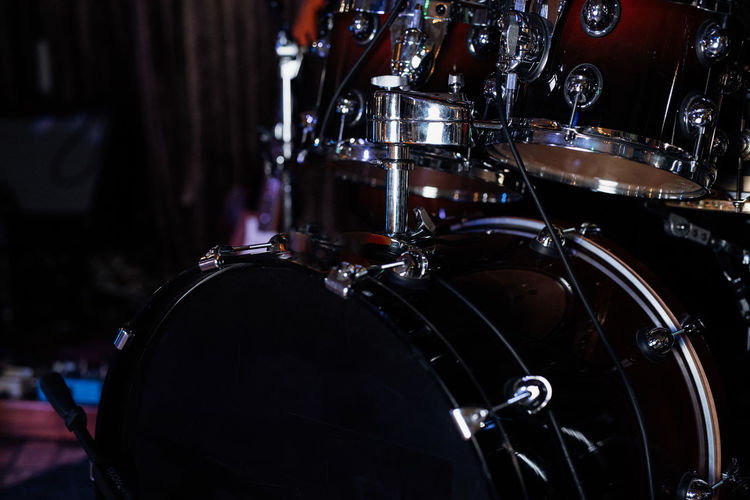 Close-up of drums