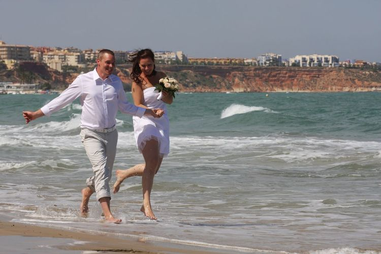 I think they are very very happy! :) Congratulations Happily Married Beach Photography People