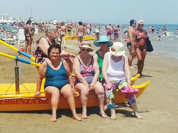 Summer Holidays Old People Seashore summer Italy Italy Riccione Beach