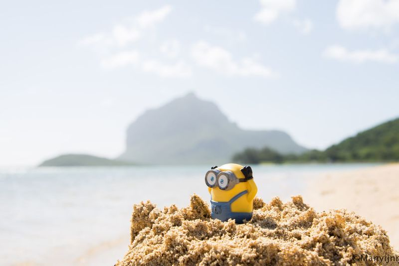 Beach Nature Mountain Beauty In Nature Water Outdoors No People Vacations Nature Eye4photography  EyeEm Best Shots Beauty In Nature Le Morne-Mauritius Minion Love Minionsworld Minions ™ Sand Beach Visual Creativity