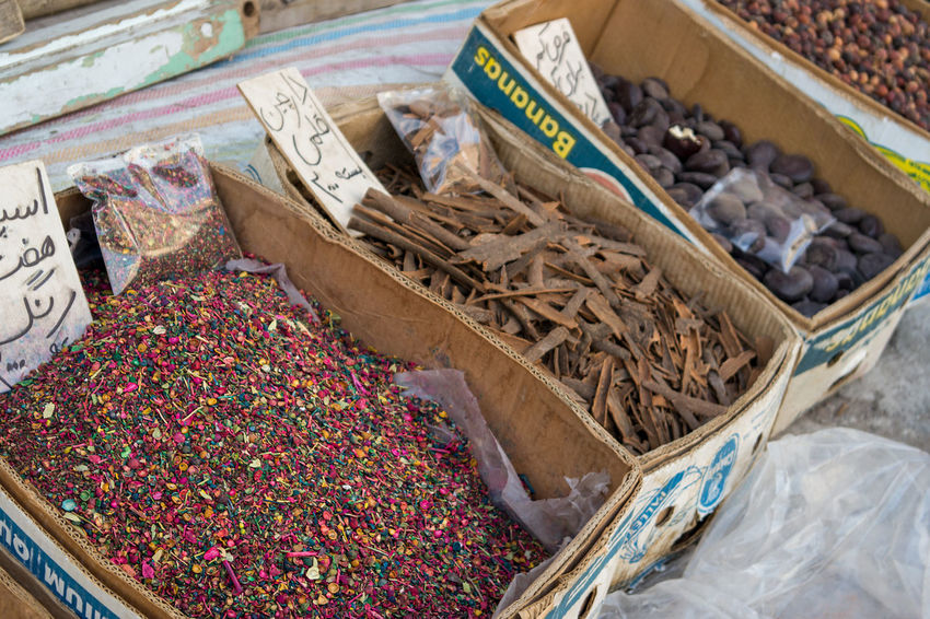Selection of middle eastern dried spices, nuts and ingredients on display in a basic way out the front of a local shop. Middle Eastern Nuts Abundance Choice Container Day Dried Spices Food Food And Drink Freshness Ingredient Large Group Of Objects Market Market Stall No People Retail  Selection Shop Front Spices Variation