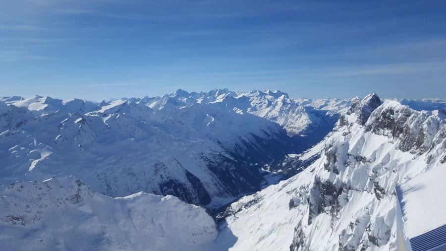 10000 Feet Central Switzerland Mount Titlis, Switzerland. Mountain Peak Swiss Alps