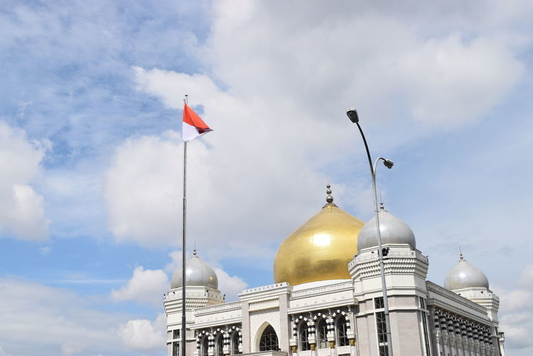 mosque and Indonesia Nofilter Mosque Politics And Government City Dome Gold Colored Religion Sky Architecture Cloud - Sky