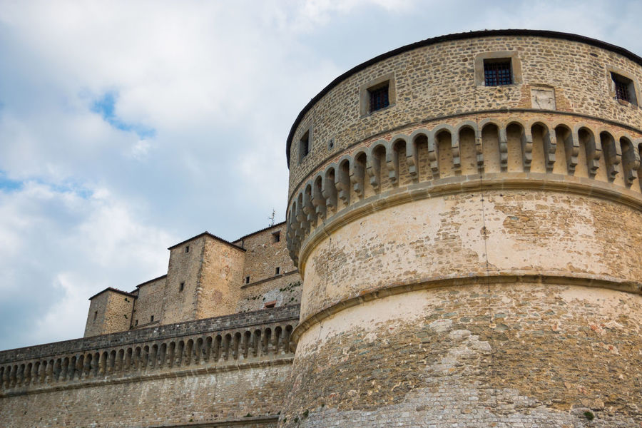 Architecture Building Exterior Built Structure Castle Cloud - Sky Day Fortress History Italy Low Angle View No People Outdoors Rimini San Leo Sky Travel Destinations