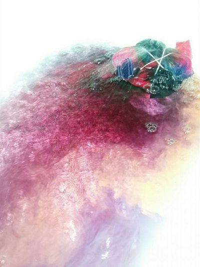 Tiedye✌✌ Multi Colored Pink Color Abstract No People Close-up Powder Paint Holi Day Outdoors Tiedye Tiedyedshirt Rinsingtiedye Water Bathtub Susannasphotographs