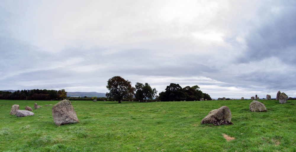 Long Meg and her Daughters - Stone Circle near Little Salkeld, Penrith, Cumbria UK Cumbria Lake District Lake District National Park Ancient Site Cloud - Sky Field Grass Long Meg Long Meg And Her Daughters Nature No People Outdoors Penrith Sky Stone Circle