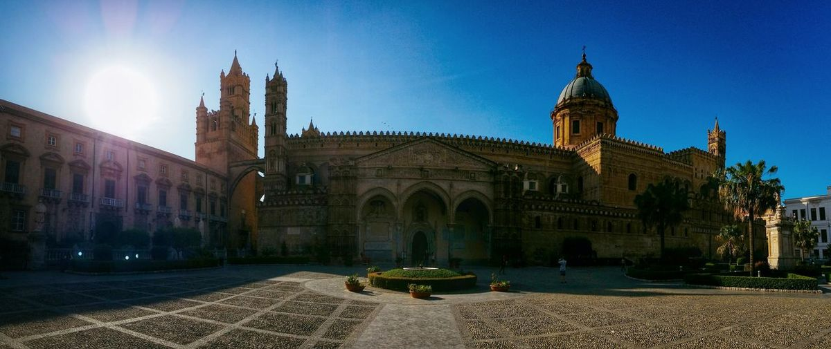 Metropolitan Cathedral Of The Assumption Of Virgin Mary Palermo Sicily Italy Travel Photography Travel Voyage Traveling Mobile Photography Fine Art Backlight Panoramic Views Architecture Churches