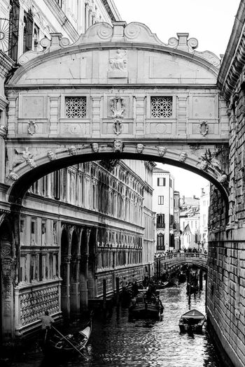 View of bridge over canal