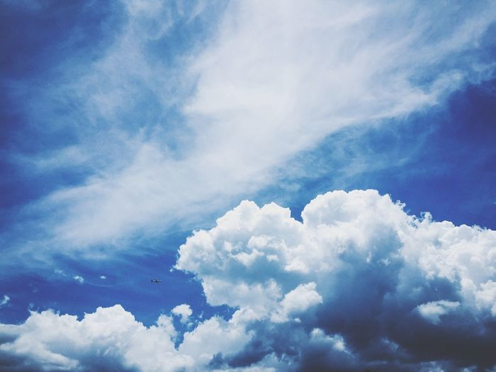 Sky Sky Skyscraper Clouds Cloud - Sky Sky Beauty In Nature Low Angle View Scenics - Nature Nature Tranquility Blue No People Day White Color Outdoors Backgrounds Cloudscape