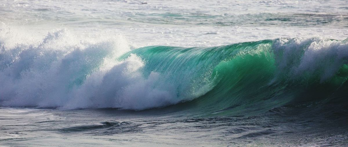 Waves Flowing At Sea