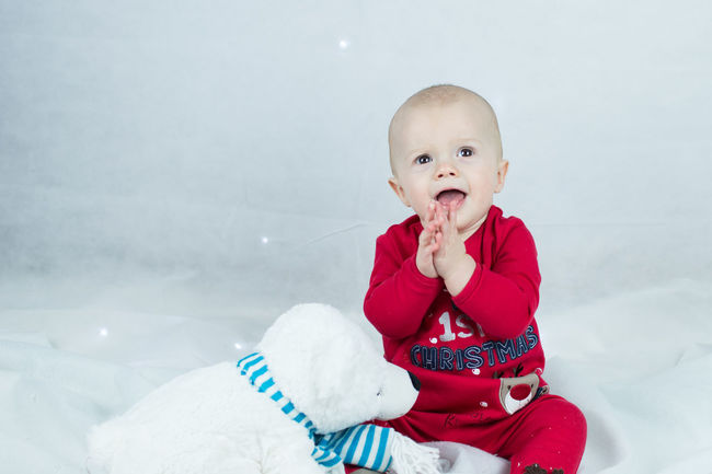 Christmas excitement Babies Only Baby Baby Christmas Baby Fun Time!! Baby Winter Babyhood Christmas Fun Cute Baby Cute Christmas Cute Polar Bear Festive Fun Happy Let It Snow Me And My Polar Bear One Person Portraits Smile Snow Softbox Streamzoofamily Winter Winter Winter Wonder