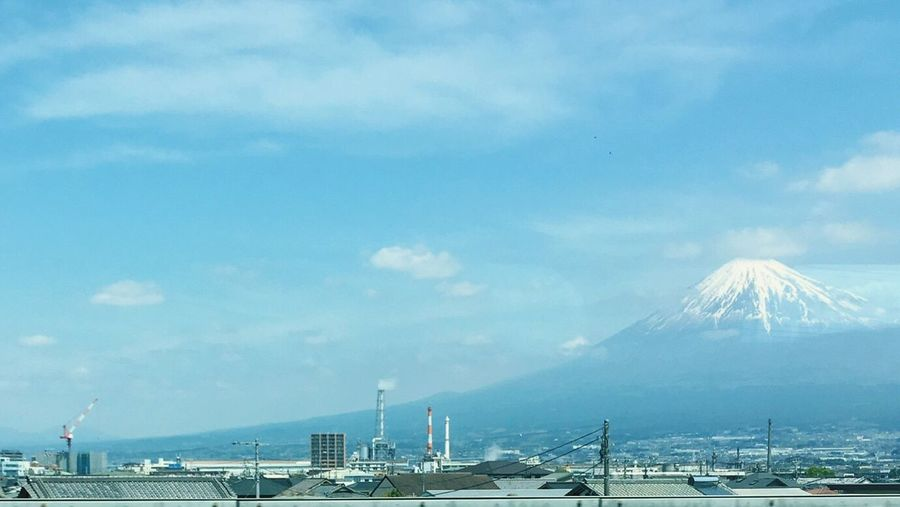 Sky Cloud - Sky Transportation Mode Of Transport Commercial Dock Day Outdoors Built Structure Nautical Vessel No People Mountain Architecture Harbor Nature Industry Beauty In Nature Water Building Exterior Fujisan Mtfuji