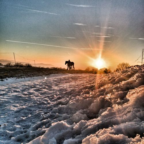Pulcinske skaly Winter Nature Sky Sunset Cold Temperature Outdoors