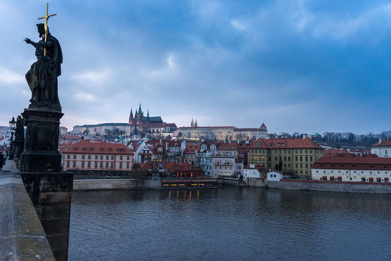 Karlův Most Architecture Building Exterior Built Structure City Cloud - Sky Day Human Representation Karlsbrücke No People Outdoors Sculpture Sky Statue Travel Destinations Water Waterfront